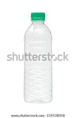 Water bottle isolated on white background - stock photo