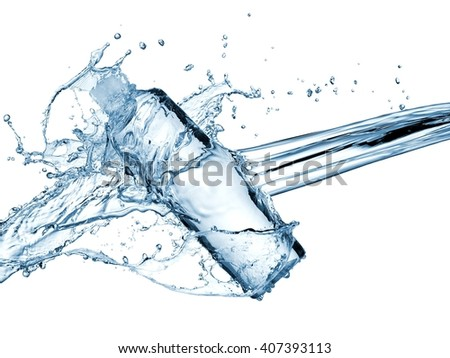 Water bottle splash