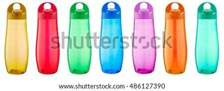 water bottle sport on white background