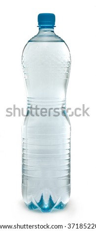 Water Bottles isolated on white background