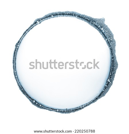 Water bubble isolated on white - stock photo