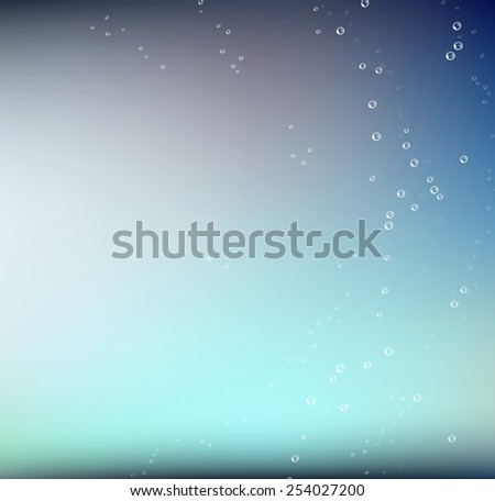 Water bubbles. Abstract bubbles on green water background - stock photo