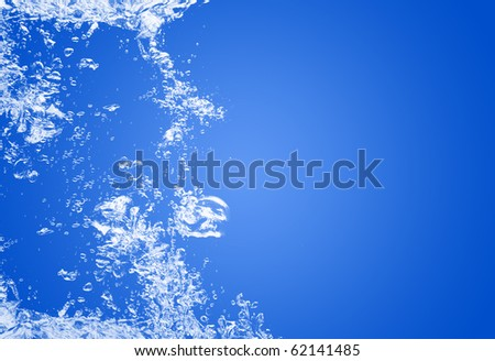 water bubbles background - stock photo