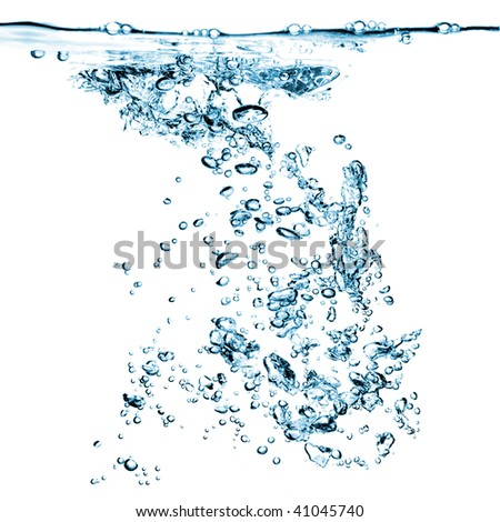 water bubbles isolated on white