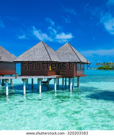 Water bungalows on Maldives