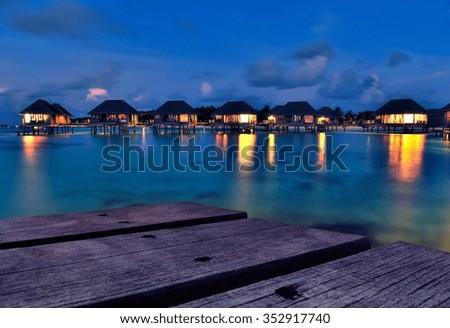 Maldives Dock Wallpaper