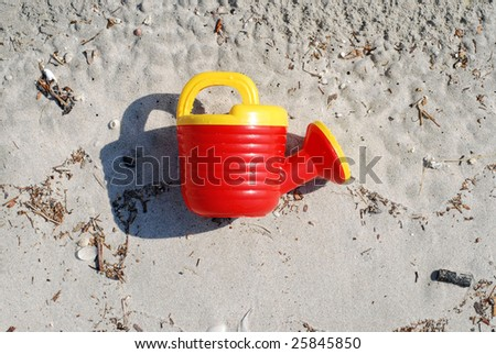 water-can on a sand