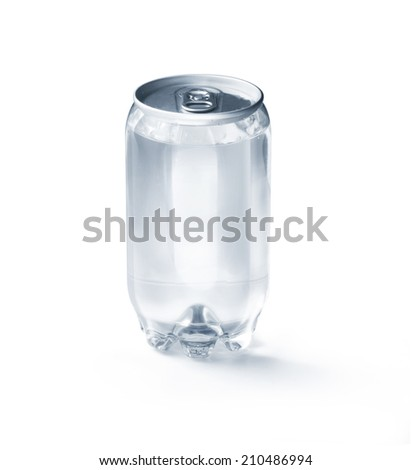 Water can on white background  - stock photo