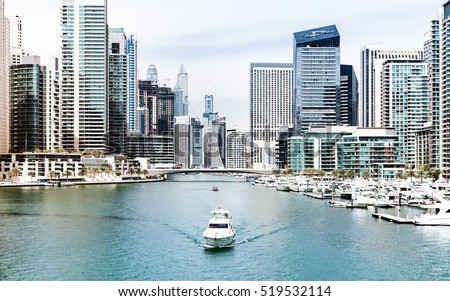 Water canal in Dubai Marina