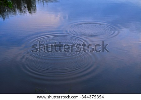 Water circles, nature background - stock photo