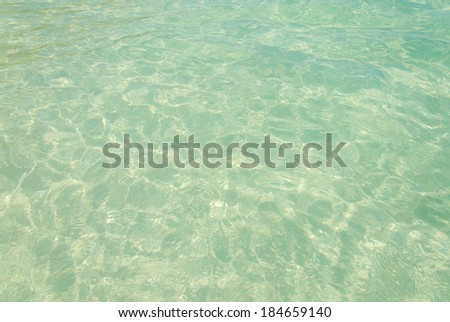 water clear in sea at Tropical beach of Andaman. - stock photo