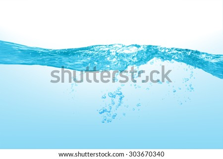 Water Close up of splash of water forming  - stock photo