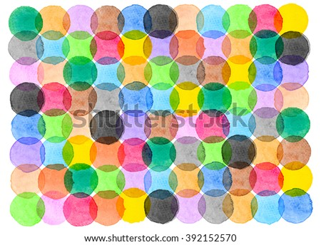 Water color of circle geometry graphic pattern background
