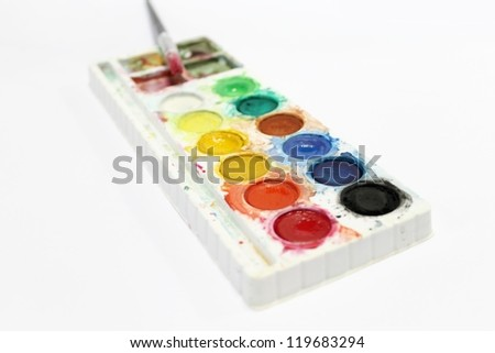 Water colors - stock photo