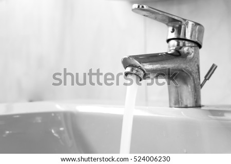 Water Coming Out Faucet Stock Photo 524006230 - Shutterstock