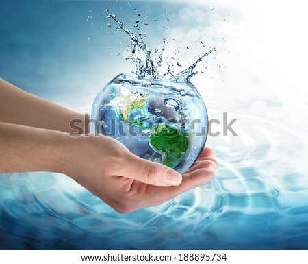water conservation in the our planet - Usa - Elements of this image furnished by NASA   - stock photo