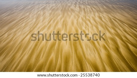 water creating ripples on a beach