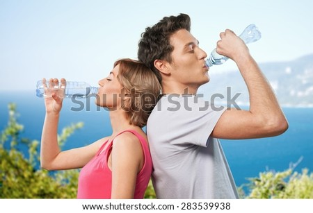 Water, Drinking, Sport. - stock photo