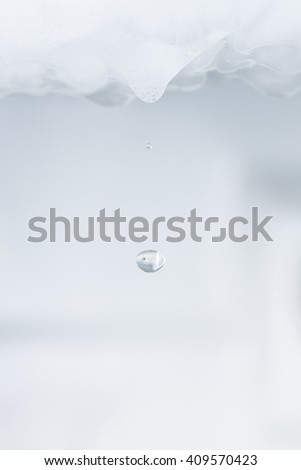 Water dripping from ice refrigerator freezer