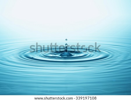 Water drop and splash - stock photo