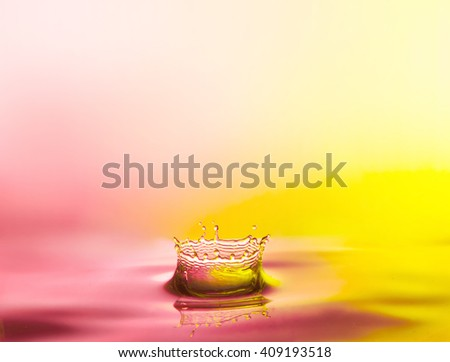 Water drop close up. - stock photo