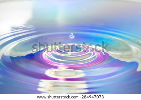Water drop in Colorful multicolored