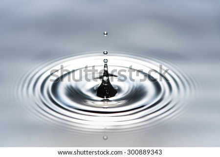 water drop in nature background