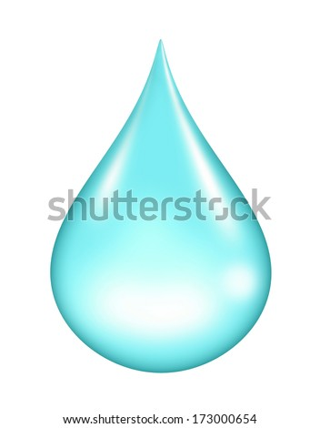 water drop isolated