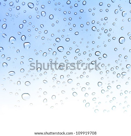 Water drop on a mirror - stock photo