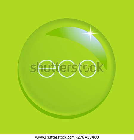 Water drop on green background. Raster version. - stock photo