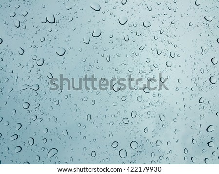 Water drop on the window