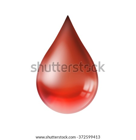 water drop red