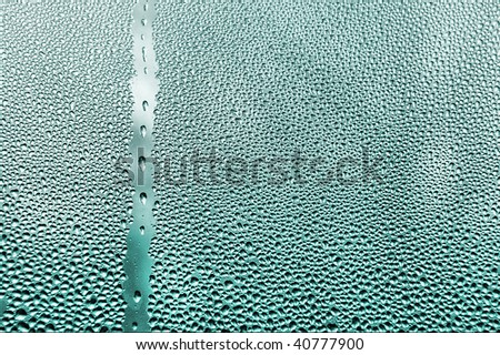water dropes on window close up - stock photo