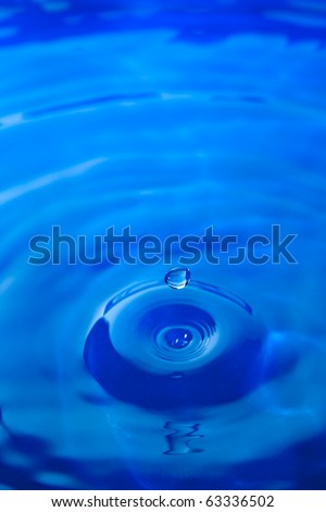 Water droplet frozen in time