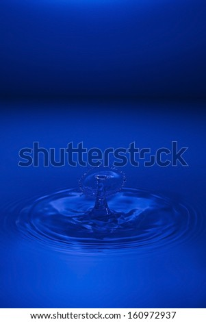 water droplet with blue background