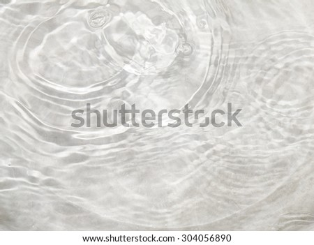 Water droplets into the water cause the water waves - stock photo