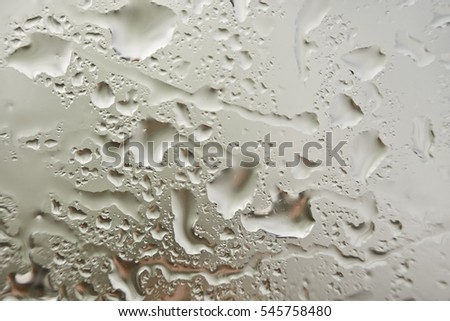 water droplets on the glass. Background & Texture.