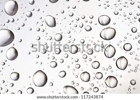 Water droplets on the glass for the background - stock photo