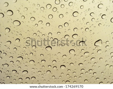 Water droplets on the glass, rain drops background - stock photo