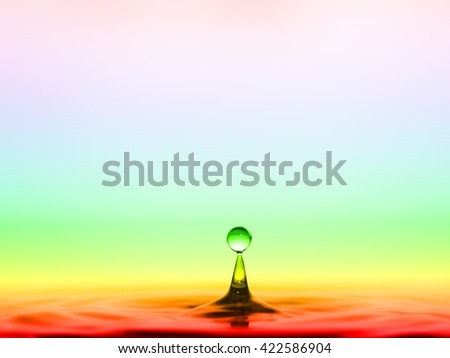 water drops and waves afloat - stock photo