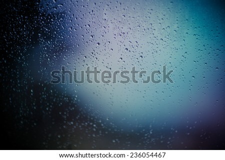 Water drops at gradient background