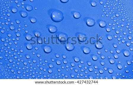 Water drops background. - stock photo
