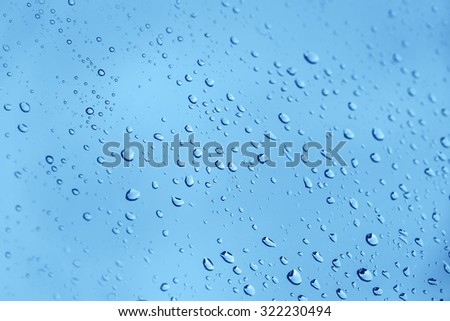 Water drops background on a window