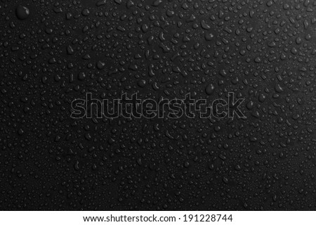 water drops bakground black - stock photo