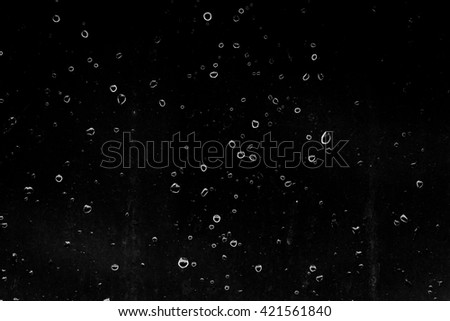 water drops bubbles on a dark background - stock photo