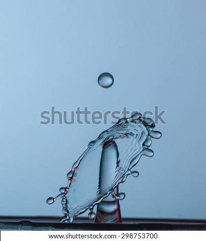 water drops falling onto the water surface
