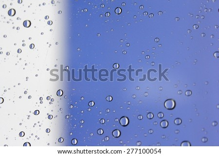 Water Drops on Glass 2 - stock photo
