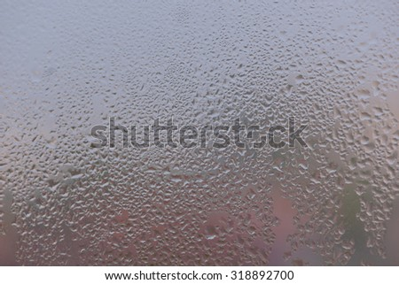 Water drops on glass  - stock photo