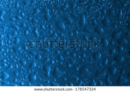 water drops on glass. beautiful pattern, can also be used as a texture