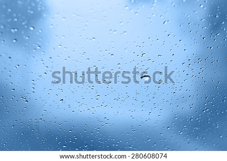 water drops on glass focus selector